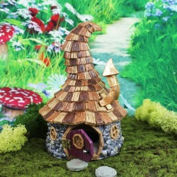 Fairy Garden House Shingletown Wonky Wizard