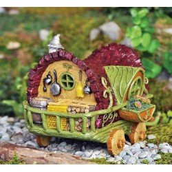 Fairy Garden House Gypsy Caravan