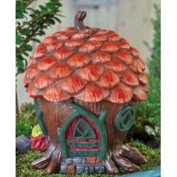 Fairy Garden House Pine Cone Cottage