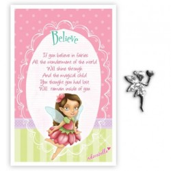 Fairy Pin & Sentiment Card Believe