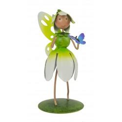 Fairy Garden Metal Accessories Mini Pearl Snowdrop