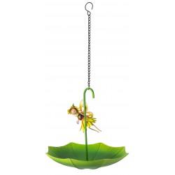 Fairy Garden Metal Accessories Umbrella Bird Feeder Honey Sunflower