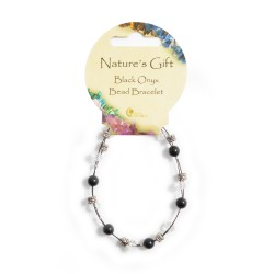 Gemstone Bead Bracelet Black Onyx