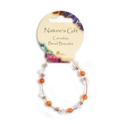 Gemstone Bead Bracelet Carnelian
