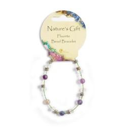 Gemstone Bead Bracelet Fluorite