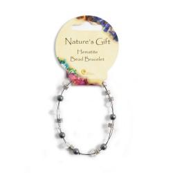 Gemstone Bead Bracelet Hematite