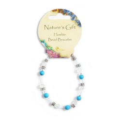 Gemstone Bead Bracelet Howlite
