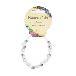 Gemstone Bead Bracelet Quartz