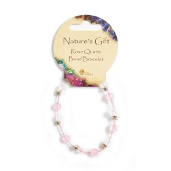 Gemstone Bead Bracelet Rose Quartz