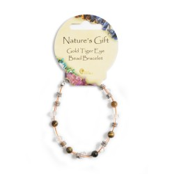 Gemstone Bead Bracelet Tigers Eye