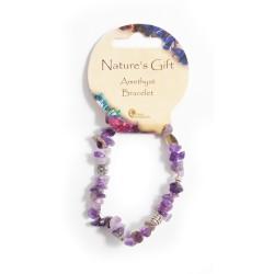 Gemstone Chip Bracelet Amethyst