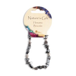 Gemstone Chip Bracelet Hematite