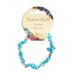Gemstone Chip Bracelet Howlite