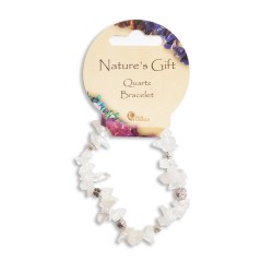 Gemstone Chip Bracelet Quartz
