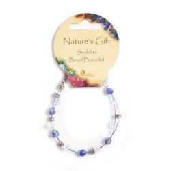 Gemstone Bead Bracelet Sodalite