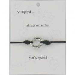 Be Inspired Sentiment Bracelet Always Remember