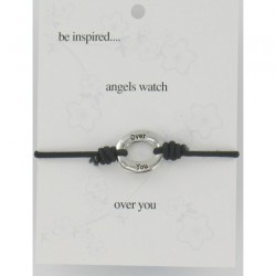 Be Inspired Sentiment Bracelet Angels Watch Over You