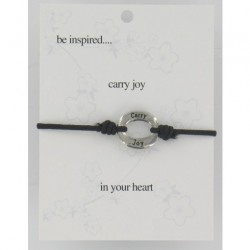 Be Inspired Sentiment Bracelet Carry Joy