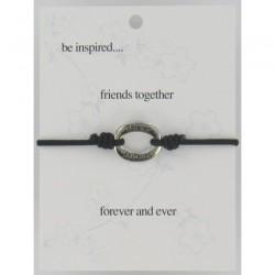 Be Inspired Sentiment Bracelet Friends Together
