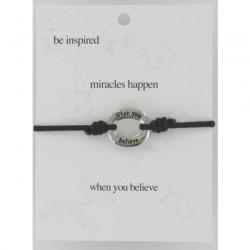Be Inspired Sentiment Bracelet Miracles Happen