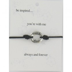 Be Inspired Sentiment Bracelet You're With Me
