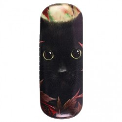 Glasses Case Autumn Cat by Linda Jones