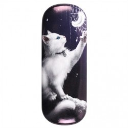 Glasses Case Snow Kitten by Linda Jones