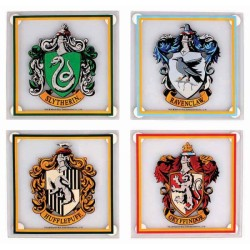 Harry Potter House Crests Coasters Set of 4