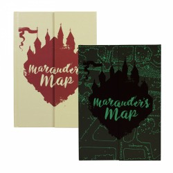 Harry Potter A5 Premium Notebook Marauders Map Glow In The Dark!