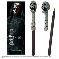 Harry Potter Wand Pen & Bookmark Set Death Eater Skull