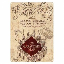 Harry Potter Small Tin Sign The Marauders Map