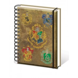 Harry Potter A5 Notebook Hogwarts House Crests