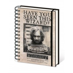 Harry Potter A5 Notebook Sirius Black Wanted Poster