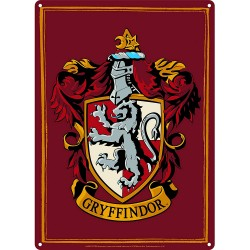 Harry Potter Small Tin Sign Gryffindor Crest