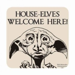 Harry Potter Coaster House Elves Welcome Here
