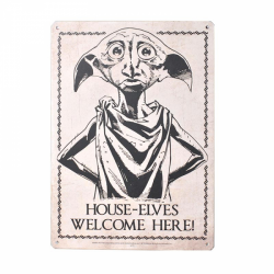 Harry Potter Small Tin Sign House Elves Welcome Here