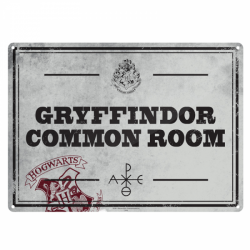 Harry Potter Small Tin Sign Gryffindor Common Room