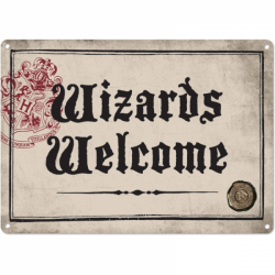 Harry Potter Small Tin Sign Wizards Welcome