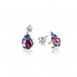 Purple Haze Teardrop Stud Earrings BLE03