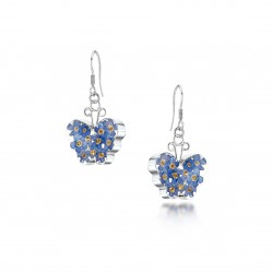Forget Me Not Butterfly Dangle Earrings FE07