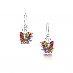 County Garden Butterfly Dangle Earrings ME07