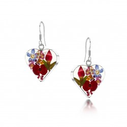 Country Garden Heart Dangle Earrings ME08