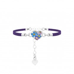 Purple Haze Heart Bracelet TBR02