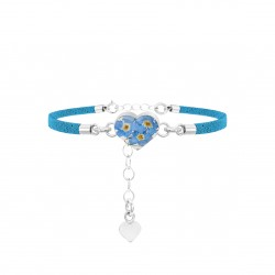 Forget Me Not Heart Shaped Bracelet TBR06