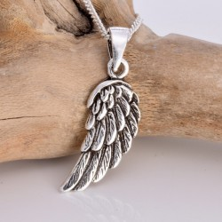 Silver Necklace Angel Wing Small
