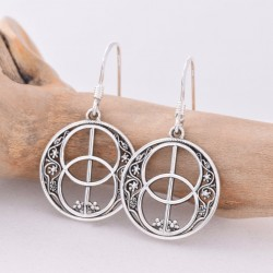 Silver Earrings Chalice Well
