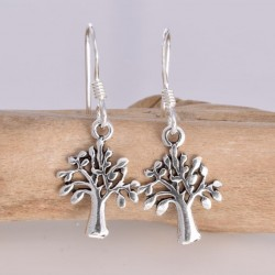 Silver Earrings Olive Tree