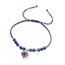 Purple Haze Heart Bracelet With Lapis Lazuli TGBR01