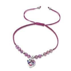 Purple Haze Heart Bracelet With Amethyst TGBR02