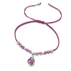 Purple Haze Teardrop Bracelet With Amethyst TGBR04